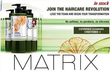 Matrix Biolage Cleansing Conditioners range now in stock